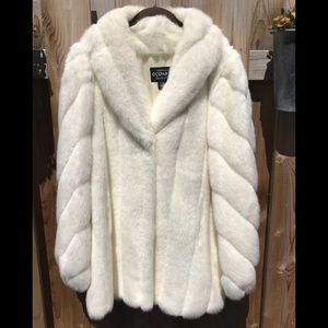 Olympia limited Inc Cream faux fur coat USA